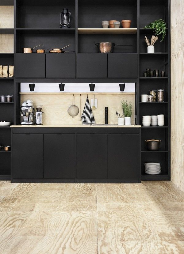 Lundia kitchen in black by Joanna Laajisto - Emmas Designblogg What an elegant and sophisticated kitchen!