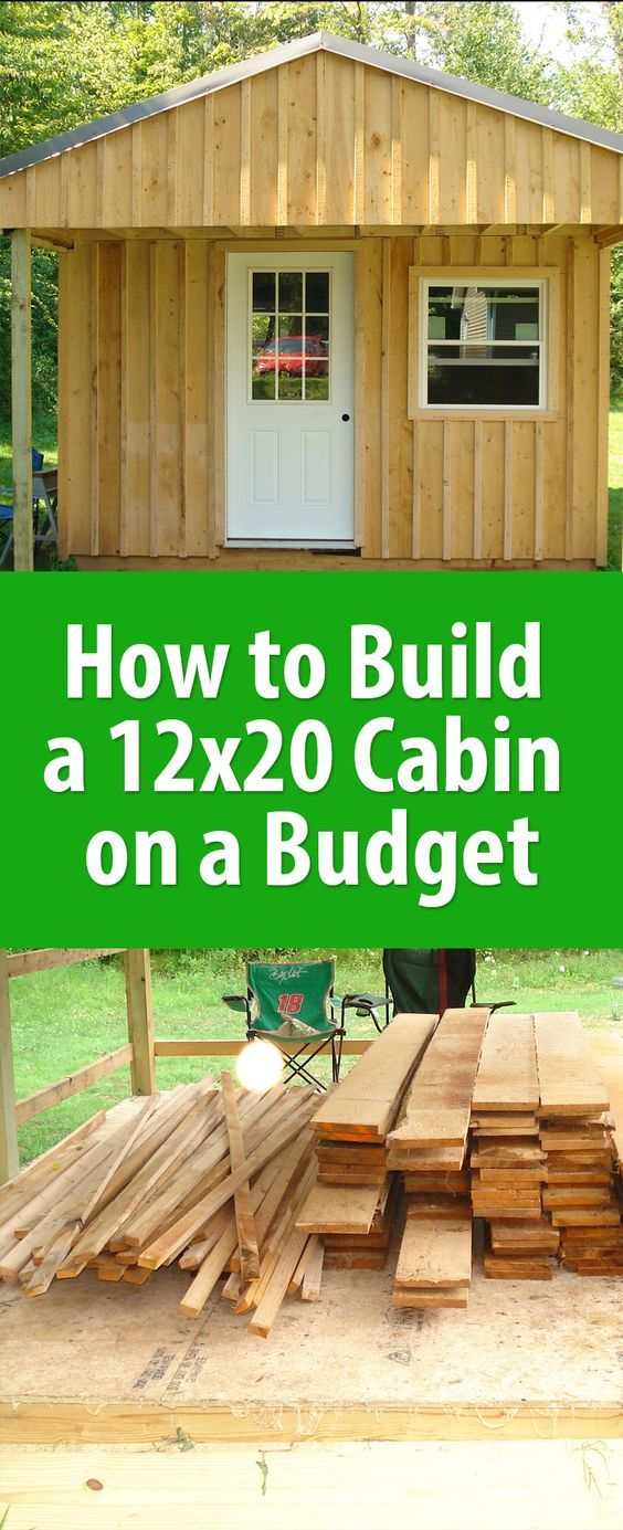 How to build a 12x20 cabin on a budget woodworking for Building a cottage on a budget