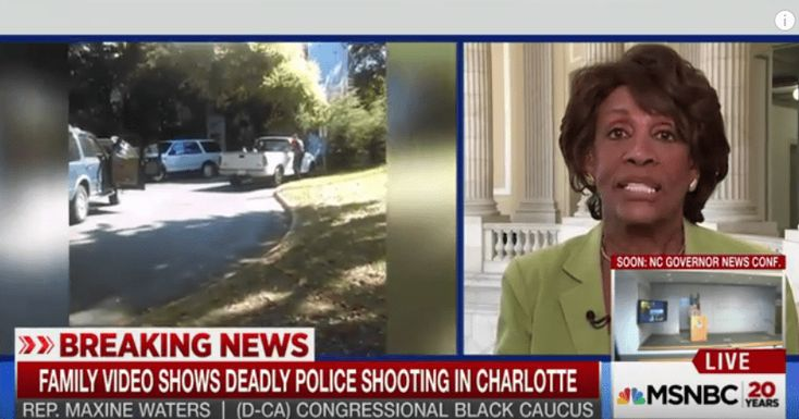 "On the Sept. 23 edition of ""MSNBC Live,"" California Rep. Maxine Waters comments on 43-year-old Charlotte, North Carolina man Keith Scott's last moments rev"