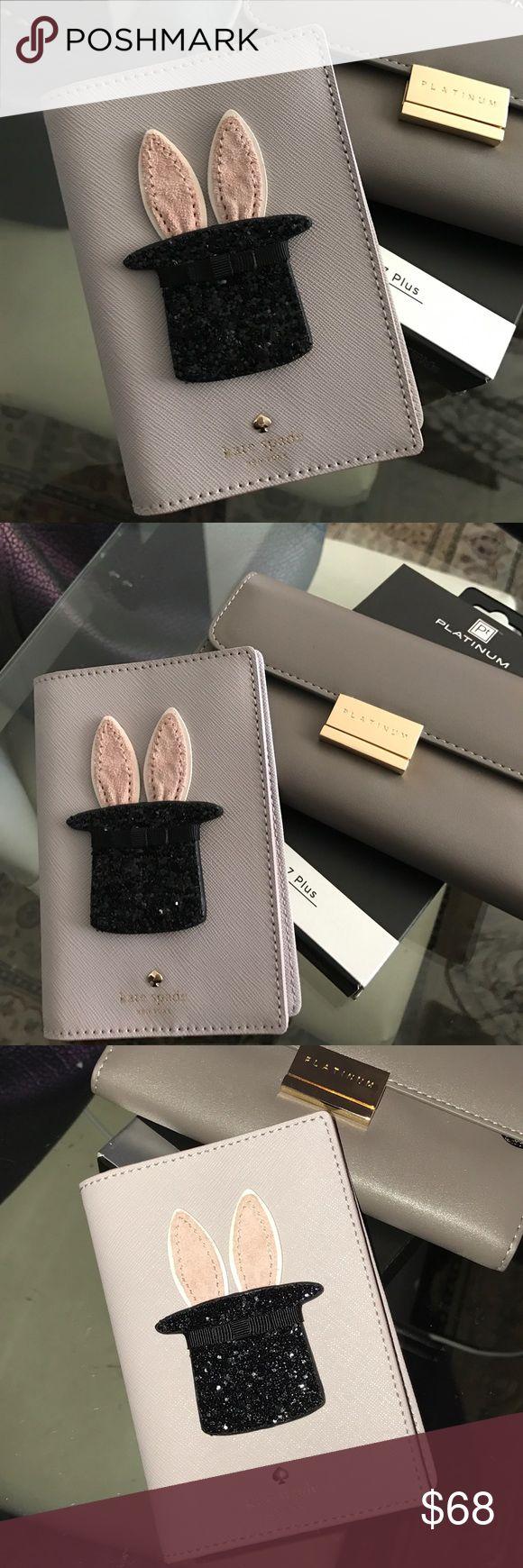 Kate Spade Magic Bunny Passport Card Wallet Kate spade leather passport wallet $80 kate spade Bags Wallets