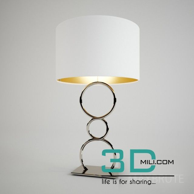 06 Table Lamp 3d Mili Download 3d Model Free 3d Models 3d Model Download Lamp Table Lamp Table