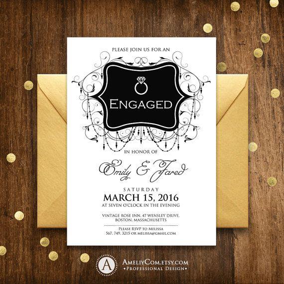 Best 25+ Engagement invitation template ideas on Pinterest Diy - engagement party invitation template