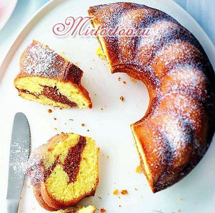 мраморный кекс - рецепт с фото mirtortov.ru