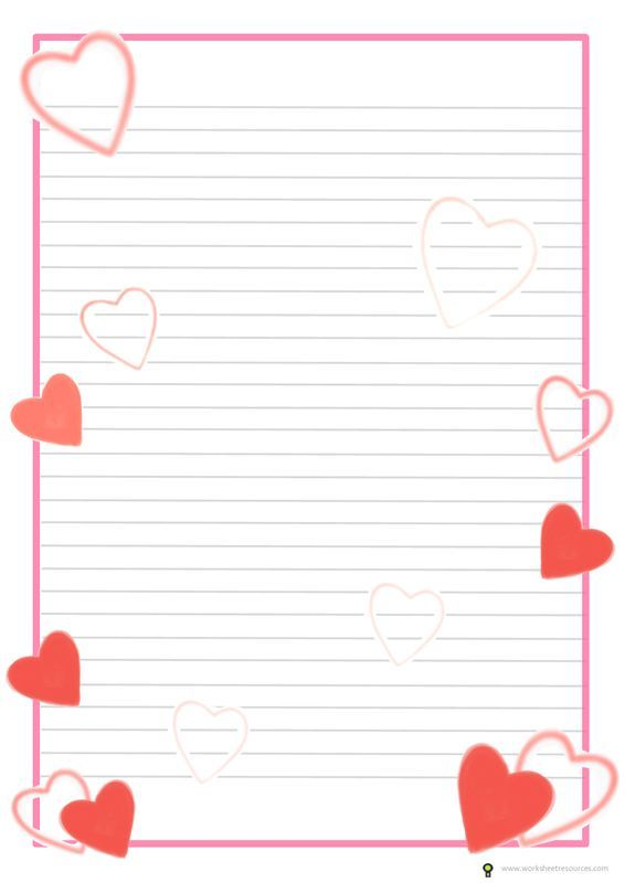 Valentines Day Writing Template Free Printable Ideas For Teachers