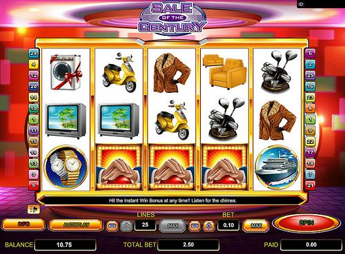 Play Sale of the Century Slots at MoonGames