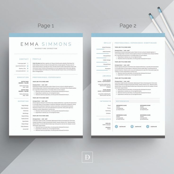 23 best Resume Template + Cover Letter Professional \ Modern - profile template word