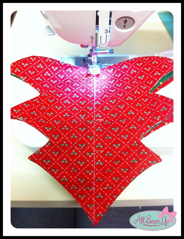 sewing christmas decorations   How to sew a Christmas tree decoration