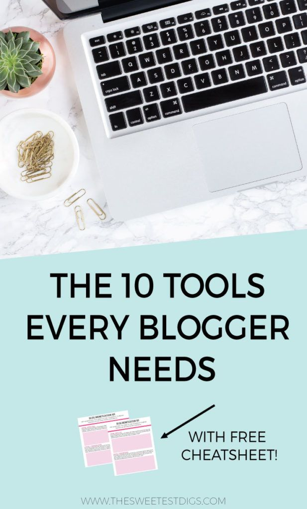 The top 10 must-have tools and programs for creating and running your blogging biz. Every blogger and online entrepreneur needs these!! Click through for the free download cheatsheet!