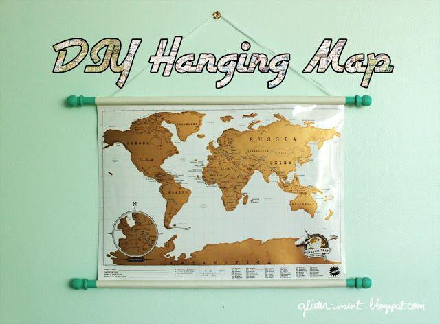 DIY hanging map