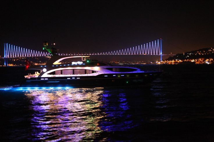 Wonderfull Bosphorus view from a boat wedding