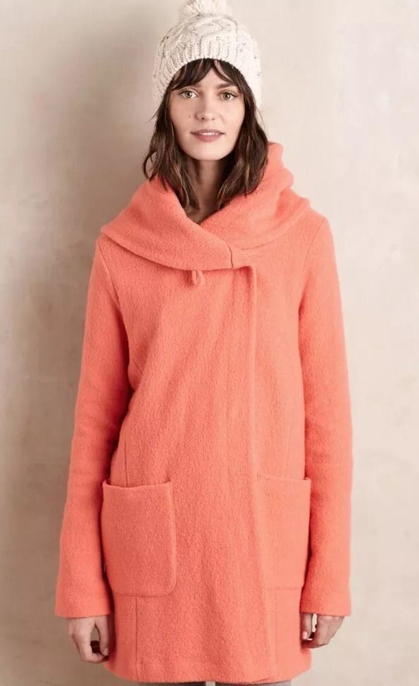Awesome Awesome Boiled Wool Sweatercoat By Moth SZ M Coral Jacket NWT 2017-2018