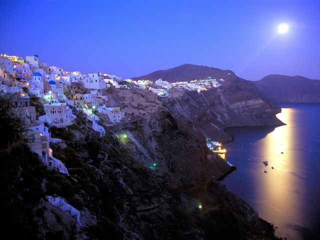 Santorini. Between skinny dipping in the pool and jumping off some roof, you'll realize this place was meant for you.
