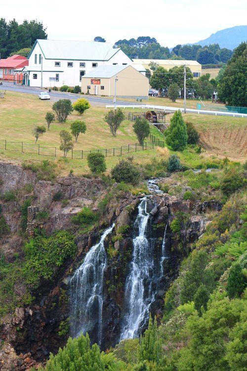 The waterfall in the town center of Waratah, Tasmania ! #discovertasmania