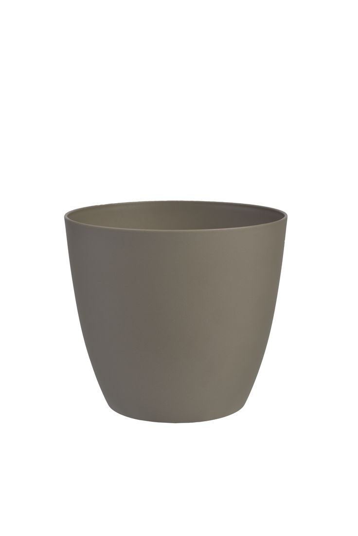Decorative flower pot Ella 11 cm taupe | PLASTKON
