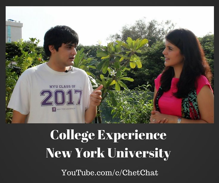 Chet Chat Video on college experience at NYU, New York University. Junior talks about Law as a career path, International Trade and Treaties Law, Transition to a large college in a big city, Economics and International Relations Major, getting a research grant from college, college dorm room and more.