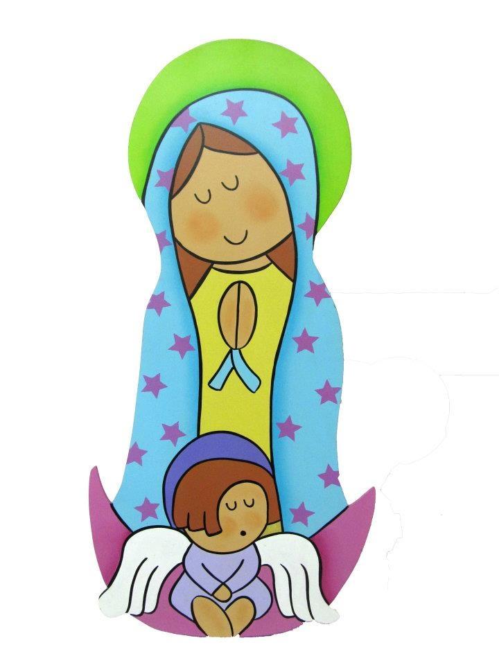 Virgen de Guadalupe para decoracion.  Fabricado en MDF de 5mm con colgadero y acabado brillante en resina.  http://www.facebook.com/orokids  $35