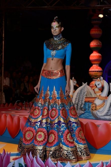 Manish Arora blue lengha