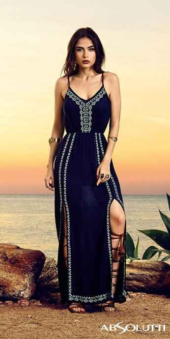 The dress is really nice (but I'm not a fan of the sandals).