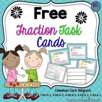 FREE Downloads- Fraction Task Cards                                                                                                                                                                                 More