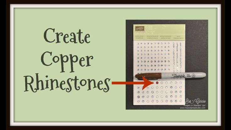 Quick Crafting Tip - Creating Copper Rhinestones