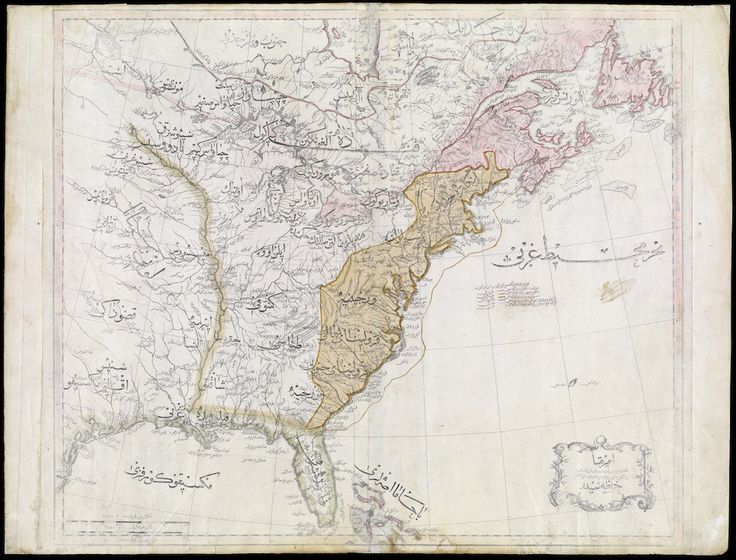 The Ottoman Empire S First Map Of The United States 1803 Note The Presence Of