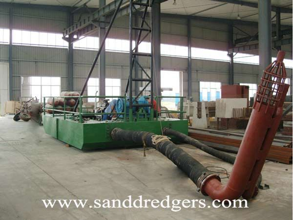 Sand Dredging Equipment Assemble We Assemble And Connect The Sand Pump Water Pump Engines For Pumps Winch Hand Frame Sand Su Sand Water Pumps Submersible