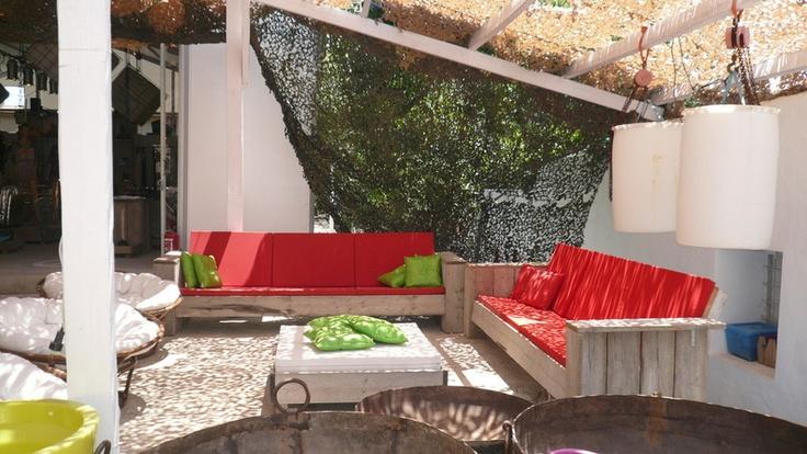 Salon de jardin palette en bois Salon de jardin en palette mousse