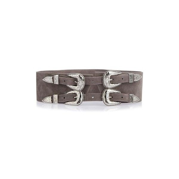 B-LOW THE BELT Baby Frank Double Buckle Belt ($244) ❤ liked on Polyvore featuring accessories, belts, grey, two buckle belt, b-low the belt belts, 2 buckle belt, b-low the belt and double buckle belt