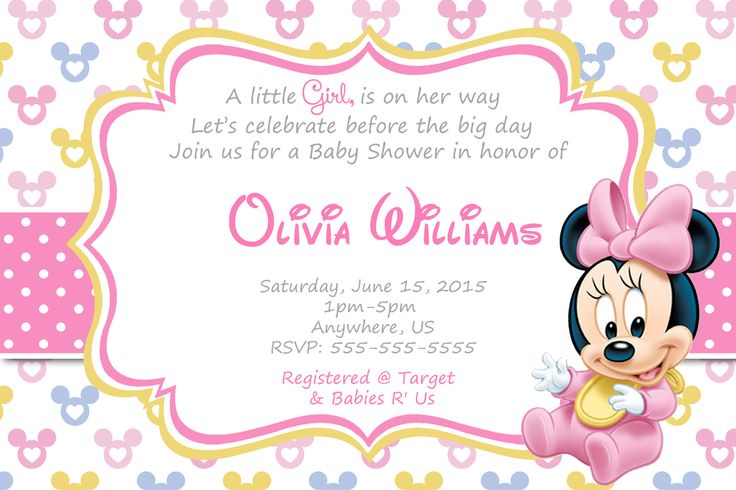 Baby Minnie Baby Shower Invitations and supplies - partyexpressinvitations