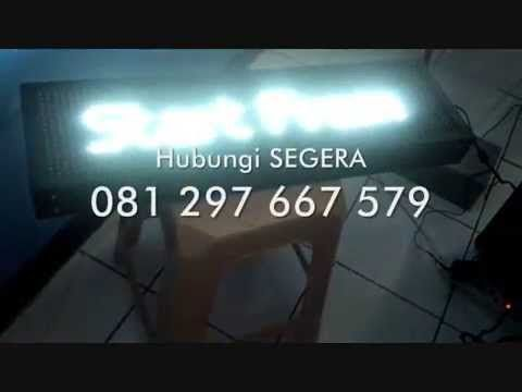 JUAL RUNNING TEXT WARNA PUTIH WHITE COLOUR LED MURAH SURABAYA DENPASAR B...