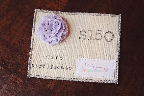10 Custom-Made Gift Certificates - Perfect for Photographer Clients