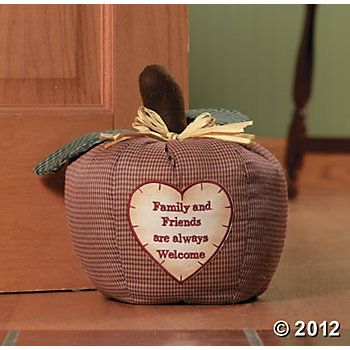 """""""Family And Friends are Welcome"""" Door Stop"""
