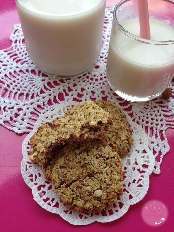 Lait d'amandes et biscuits à l'okara {Healthy et Vegan Food}