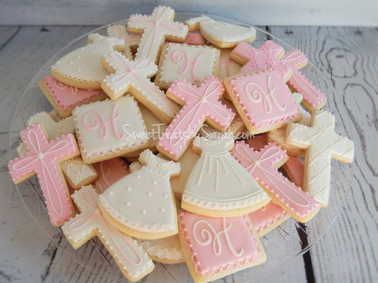 Girl Baptism Cookies, Christening Gown Cookies                                                                                                                                                                                 More