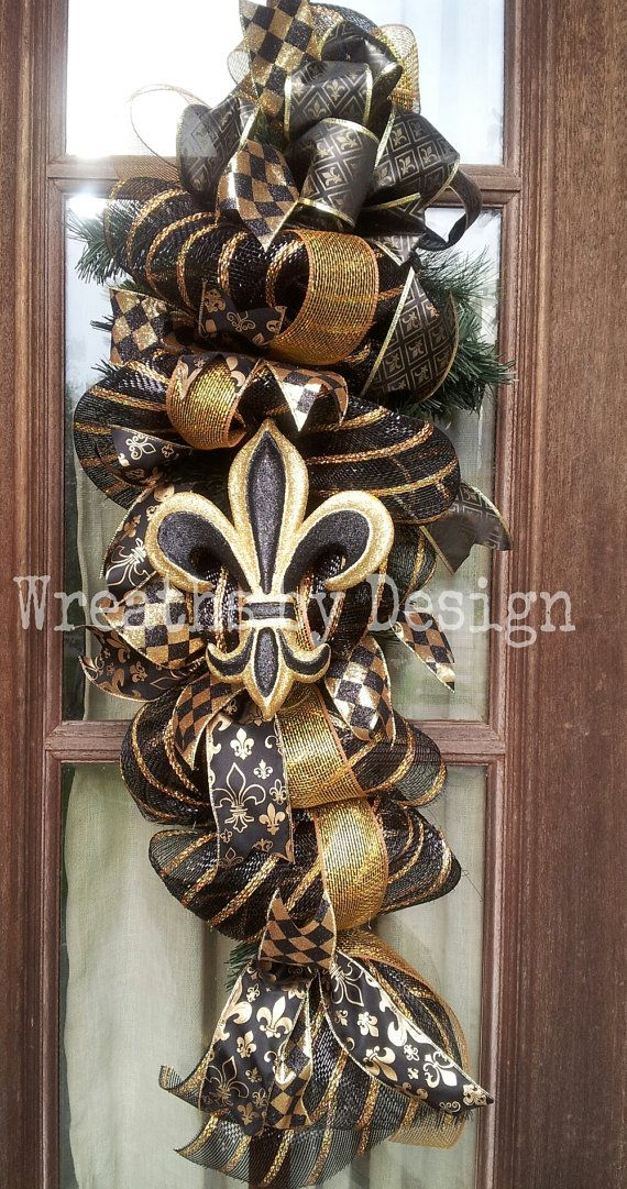 Hey, I found this really awesome Etsy listing at https://www.etsy.com/listing/201549238/new-orleans-saints-door-wreath-swag