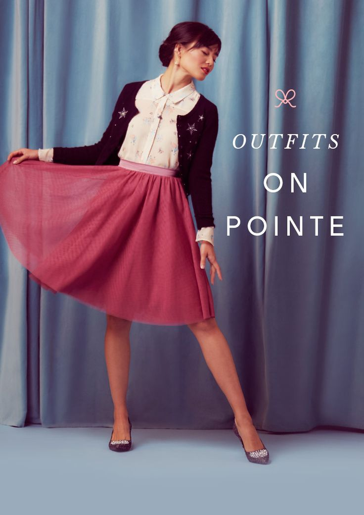 Outfit on Pointe. Visions of tulle and ballet prints dance in our heads, with a sprinkle of sparkle and shimmer and shine. Shop the Collection.