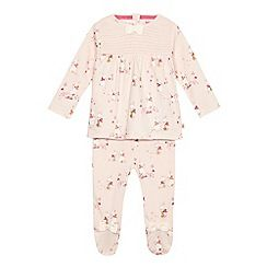 Baker by Ted Baker - Baby girls' pink bunny top and leggings set