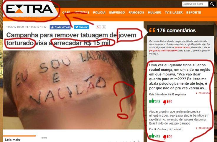 Vaquinha Ajuda Marginal Criminoso a Remover Tatuagem da Testa – QUESTIONE-SE