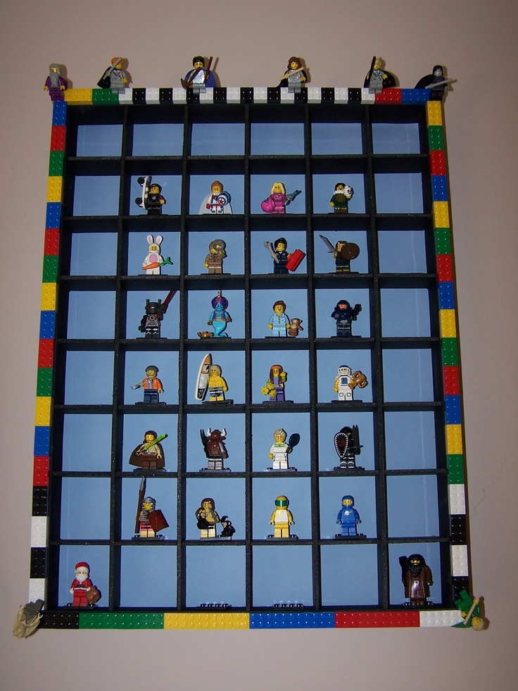 Lilly-Belle Makes The Internet: Lego Mini-fig Display Cabinet