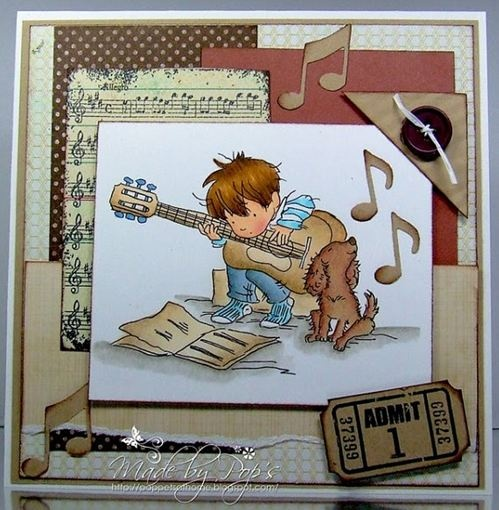 LOTV - Playing Guitar - http://www.liliofthevalley.co.uk/acatalog/Stamp_-_Boys_-_Playing_Guitar.html