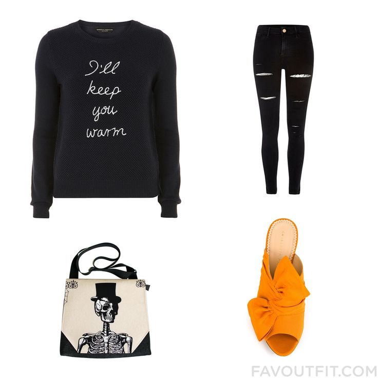 Shopping List With Dorothy Perkins Sweater River Island Charlotte Olympia Shoes And Structured Messenger Bag From October 2016 #outfit #look