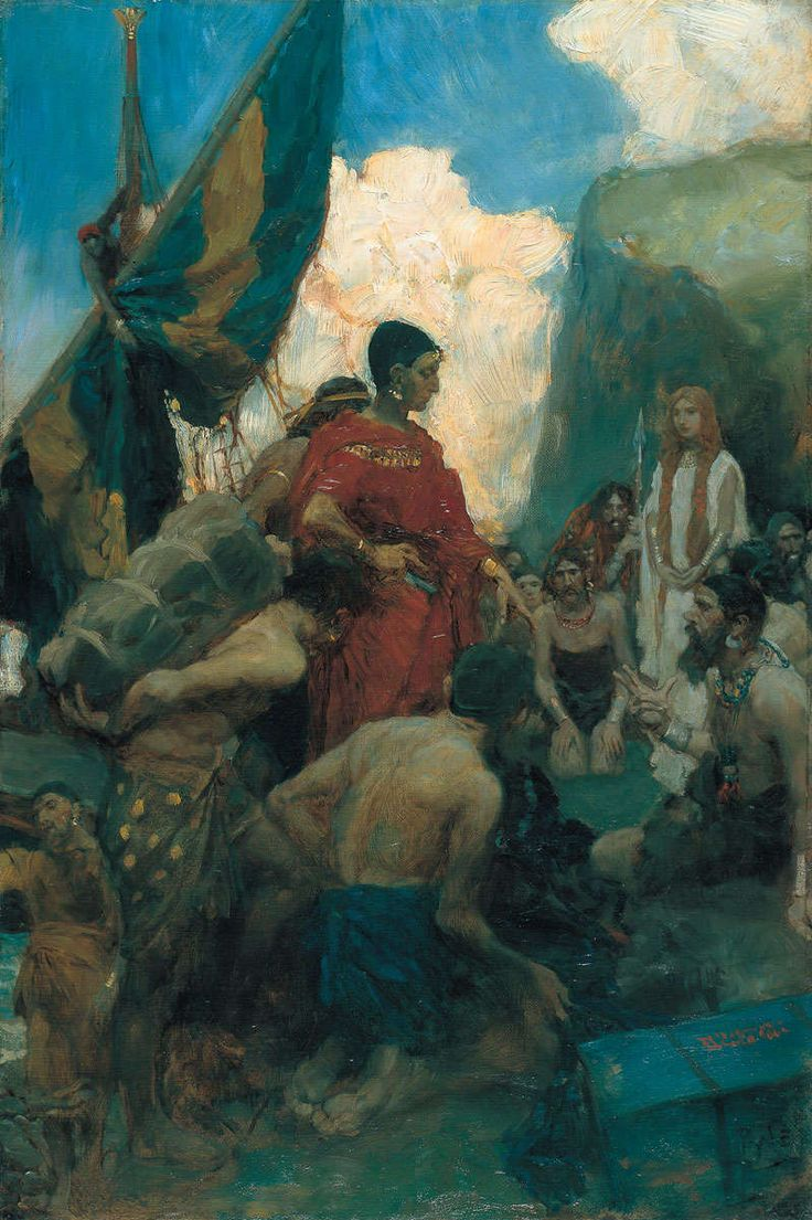 "Howard Pyle, ""Phoenician Traders"" c.1904 – The Lucas Museum of Narrative Art"
