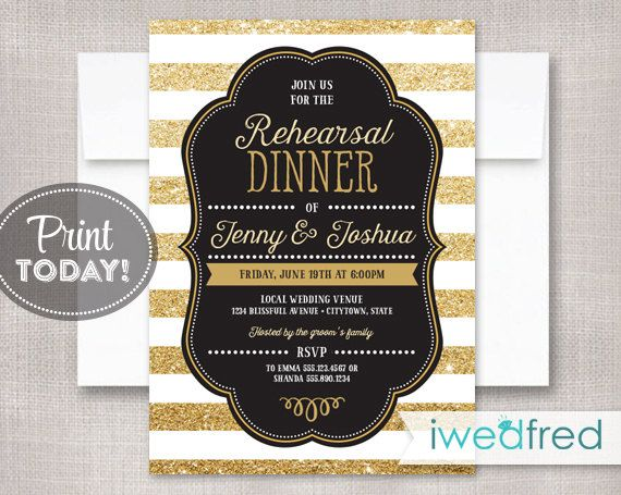 93 best Rehearsal dinner invitations images on Pinterest - printable dinner invitations