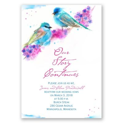 watercolor pair vow renewal invitation   watercolor invites at Invitations By Dawn