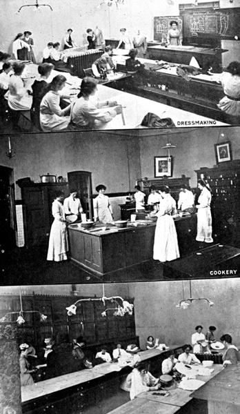 Women's classes at Wolverhampton Technical School in 1938.