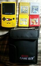 GAMEBOY COLOR With 4 REAL Pokemon Games Lot RED YELLOW GOLD SILVER New Batteries  get it http://ift.tt/2cAiTXq pokemon pokemon go ash pikachu squirtle