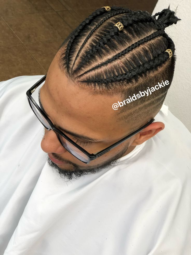 Man Bun Hair Styles Hair Styles Cornrows Men Braided