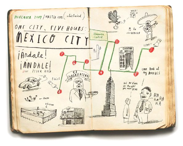 oliver jeffers made a bunch of maps for the United Airlines inflight magazine. They are all geographically accurate.