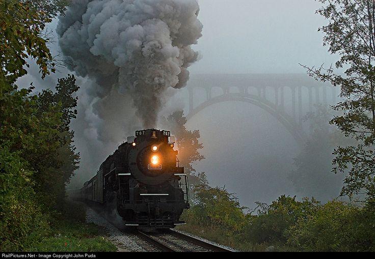 RailPictures.Net Photo: NKP 767 Nickel Plate Road Steam 2-8-4 at Brecksville, Ohio by John Puda