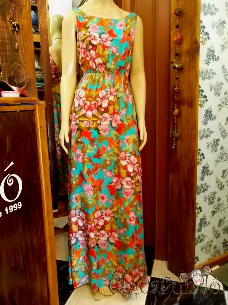 Vestido longo de Chita - Pesquisa Google                                                                                                                                                     Mais